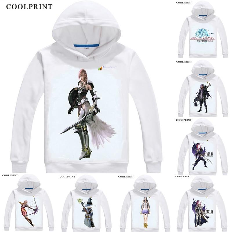 Final fantasía Anime Hoodies hombres Hip Hop Hoodie Final fantasía XII FF14 Cosplay motivos Anime sudaderas hombres