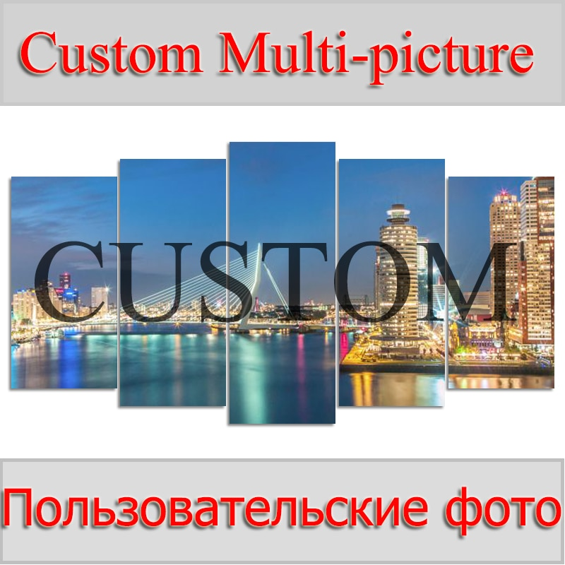 Foto personalización 5 uds multi-pantalla combinación diamante bordado 5D diamante pintura punto de cruz mosaico completo de diamantes de imitación