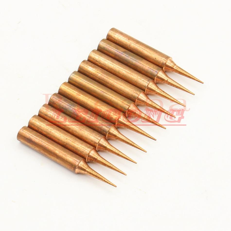 10 unids/lote 900M-T-I hierro puro de cobre punta para HAKKO SAIKE atención AOYUE KADA YIHUA soldadura Estación de Reparación hierro Tsui