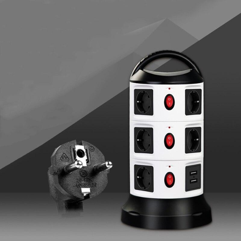 مقبس شحن متعدد الوظائف ، مفتاح الاتحاد الأوروبي ، شريط طاقة ذكي USB ، كابل تمديد ، حماية من البرق