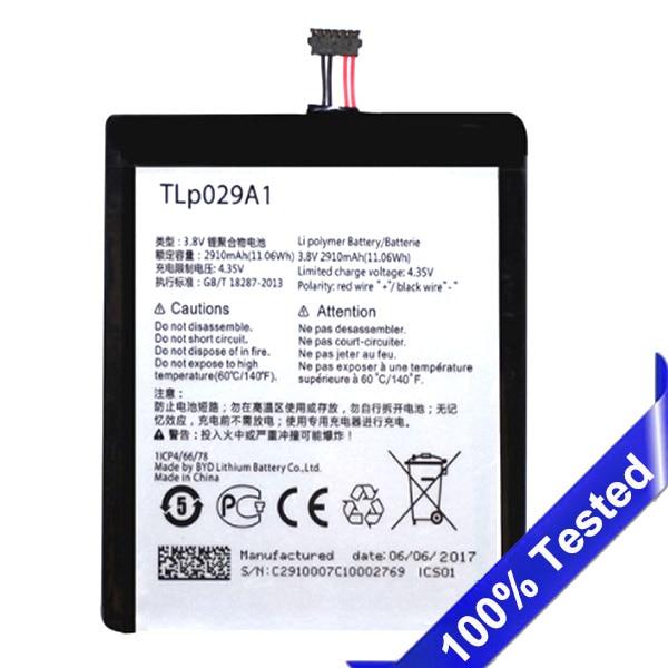 "Original TLp029A1/TLp029AJ Para Alcatel OneTouch Pop 3 5.5 ""OT-5025D MQNLQ OT-5025 Substituição Da Bateria 2910 mAh"