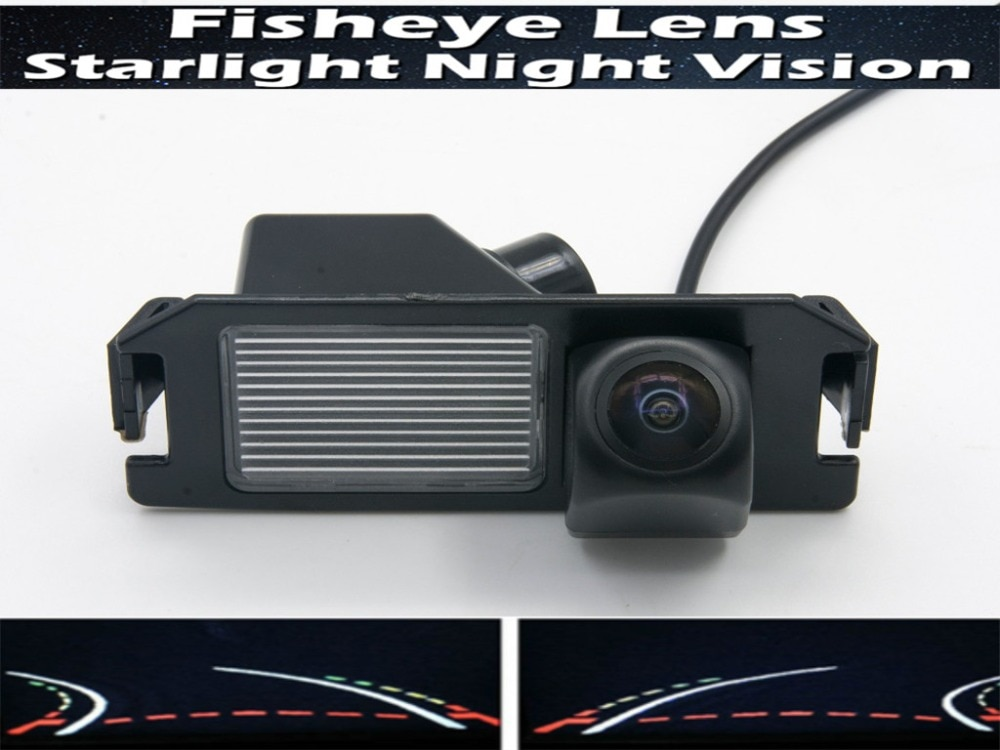 HD 1080P lente ojo de pez trayectoria pistas cámara de Vista trasera de estacionamiento para Kia Soul 2012 2013 2014 cámara de marcha atrás impermeable