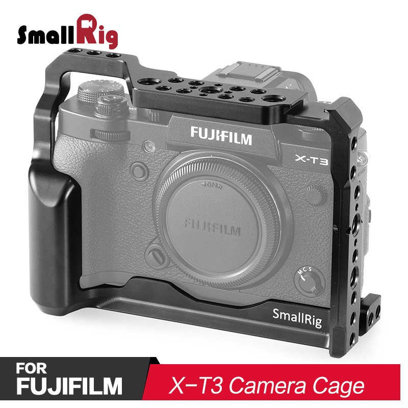 SmallRig DSLR Camera Cage for Fujifilm X-T3 Camera With Comfortable Handle Grip Quick Release Nato Rail Arri Locating Hole 2228