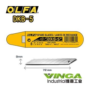 Hecho en Japón OLFA DKB-5 5 uds Olfa hoja OLFA Ersatzklinge 30 DKB5 Grafik Folie de Klebefolie 0,38 MM 9MM