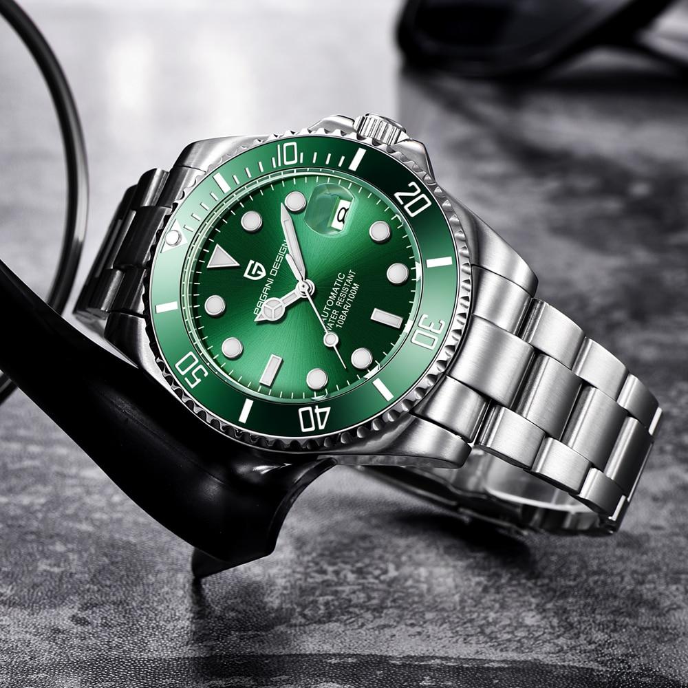 Reloj mecánico automático PAGANI DESIGN para hombre, Relojes de Acero resistentes al agua para hombre, reloj de negocios para hombre, envío directo