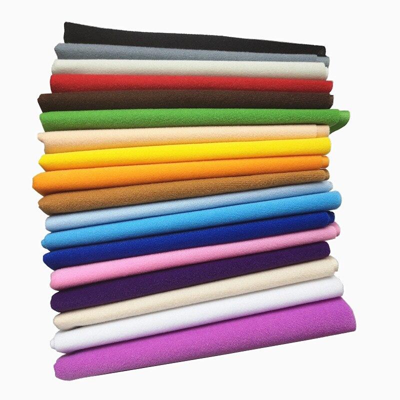 40x50cm 30 cores mais barato poliéster laço tecido de lã tricot veludo escovado tecidos para retalhos costurar boneca recheado brinquedos pano