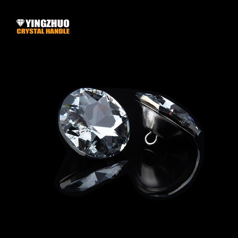 Botão venda quente k9 20/25/30mm sofá de cristal botão macio botões strass 50 pçs/lote pacote fivela de vidro decorativo atacado