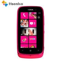 Nokia lumia 610 Refurbished-Unlocked Original Lumia 610 Windows Mobile Phone 8GB Camera 5.0MP GPS Wifi 3G phone Free shipping
