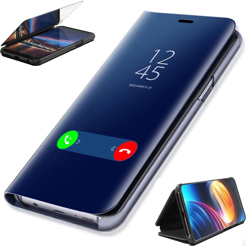 For Samsung Galaxy A6 A8 J4 J6 Plus J8 A9 A7 2018 Case Flip Stand Mirror Cover For Samsung J3 A3 J7 A7 A5 J5 2017 J7 Prime Case