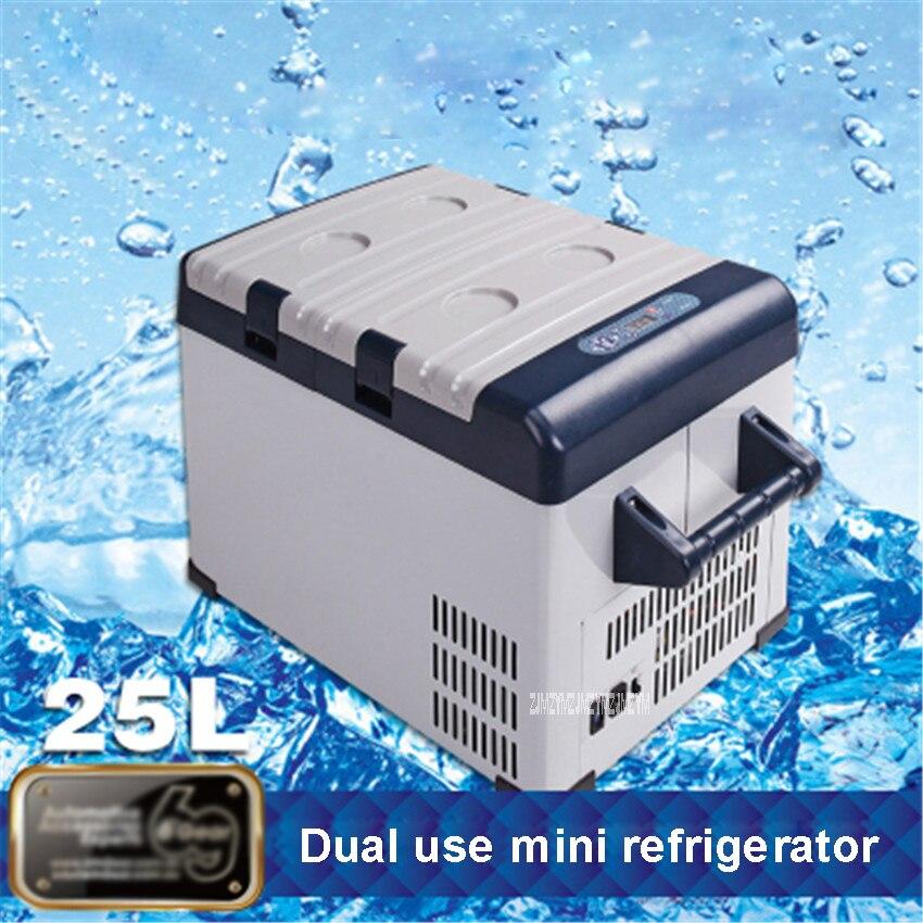 Câmara de gelo 12/24 v do refrigerador da insulina da caixa do compressor do refrigerador do congelador 42l portátil mini refrigerador do uso duplo do carro 110-220 v