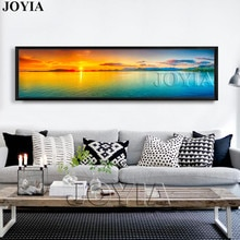 Natur Leinwand Wand Kunst Landschaft Malerei Große Sunset Meer Panorama Seascape Dekor Bild Panel Boards Für Home Zimmer (Keine rahmen)