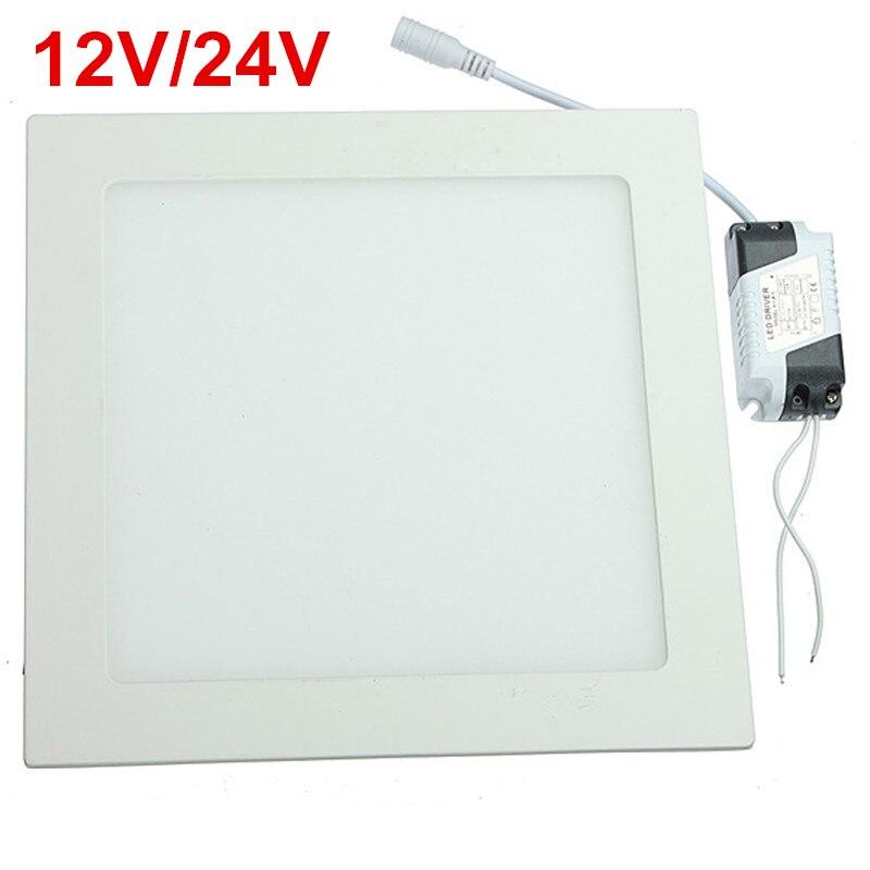 10pcs 15W Cold White LED downlight Square LED panel Ceiling Recessed Light bulb lamp AC/DC12V- 24V with drive