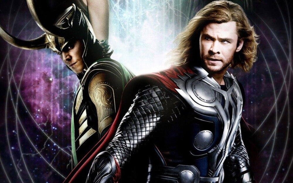 0175B Thor 2 loki película del mundo oscuro-pegatina de pared cartel de seda lienzo ligero Decoración