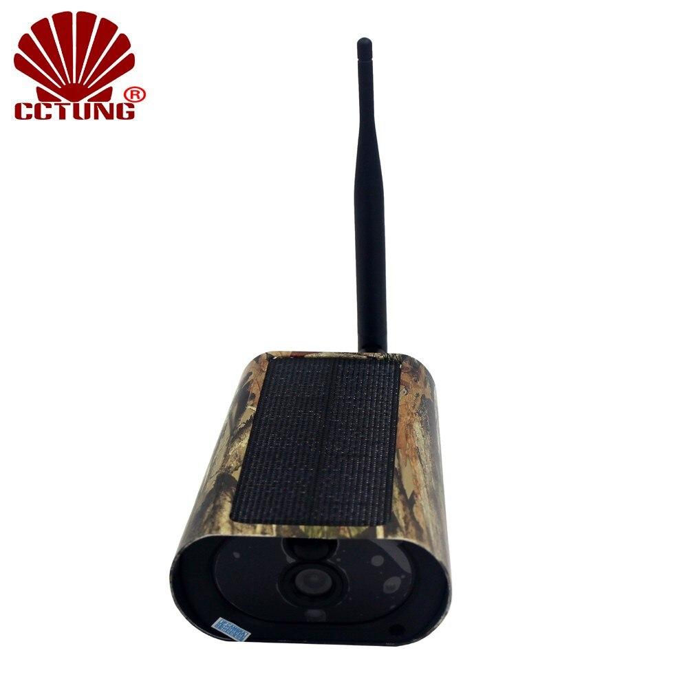 Cámara WIFI móvil Solar Trail con Panel Solar como carga de batería 1080P HD imagen vídeo libre APP Control remoto IP65 impermeable