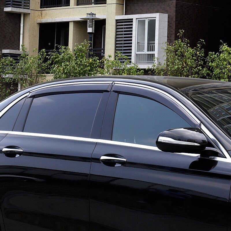 Lsrtw2017 acrílico Ventana de coche protector de lluvia para mercedes benz clase c c180 c200 c300 c250 2014, 2015, 2016, 2017, 2018, 2019 w205