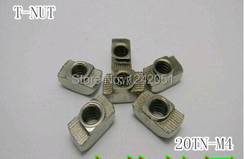 M4 porca T Hammer Head apertem Nut Connector niquelado para 20 séries Slot sulco 6