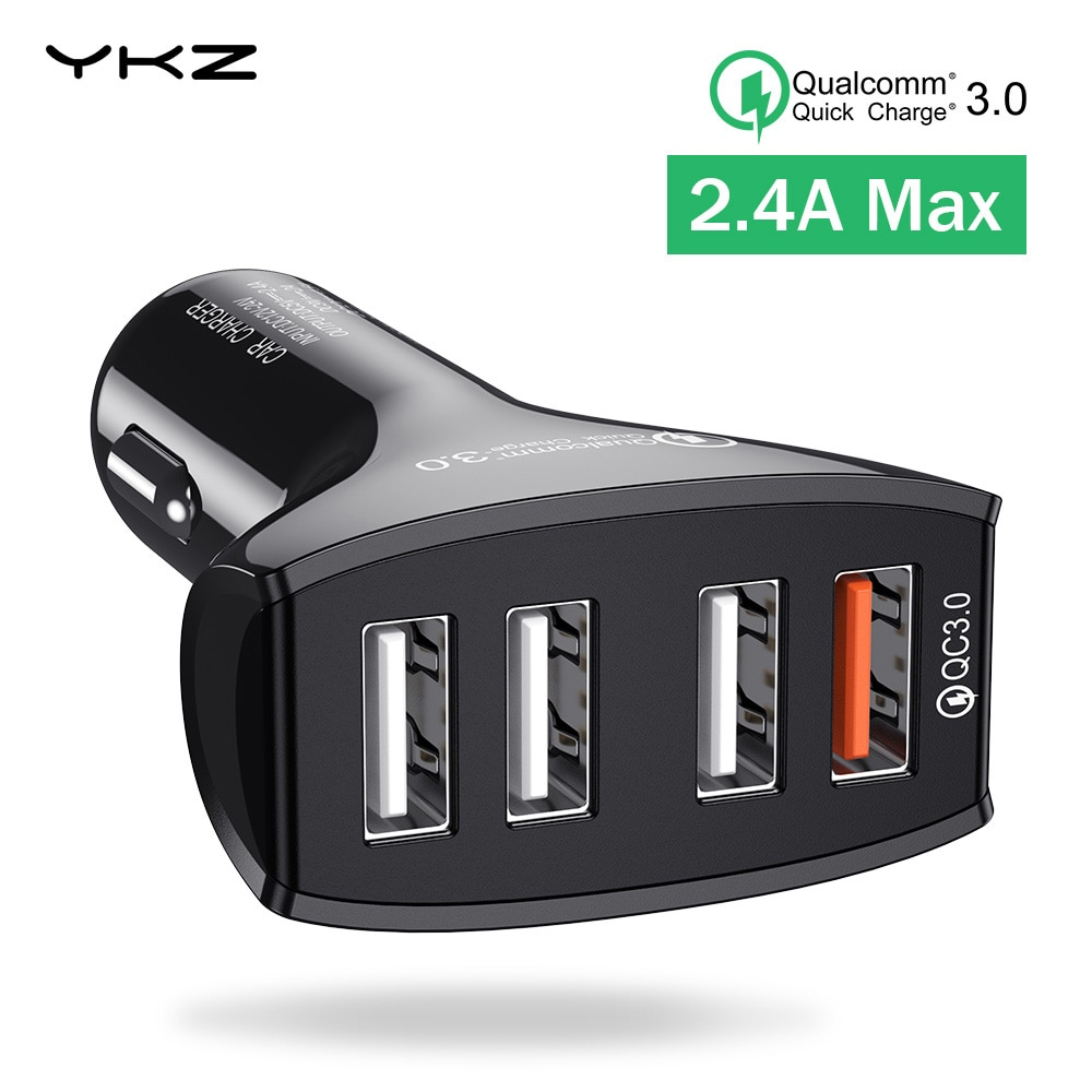 USB Carregador de Carro QC3.0 Quick Charge 3.0 4 Portas USB Carregador de Carro Rápido Carregador Do Telefone Móvel para o iphone Samsung Xiaomi adaptador de telefone