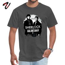 2019 Korting Man Top T-shirts O Hals Gotham Mouw In Moskou Sherlock Tops & Tees Normale T-shirt Top Kwaliteit mannelijke Camisa