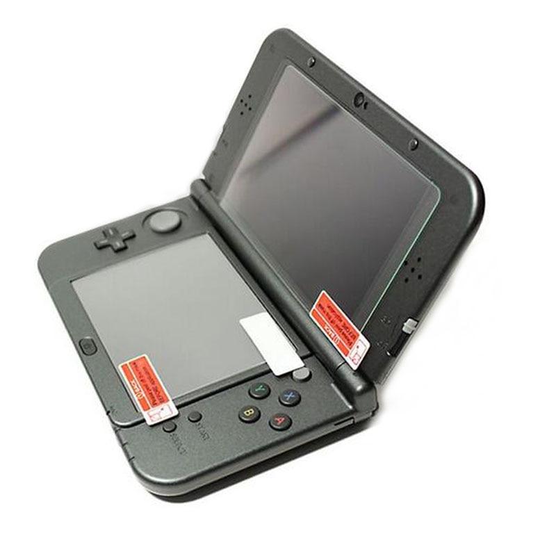 Película de vidro temperado tela LCD, +tela PET de baixo transparente para Nintendo 3DS XL/LL 3DSXL/3DSLL proteção completa