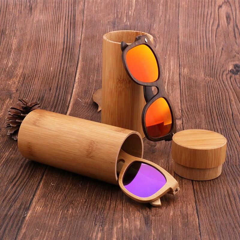 Estuche de bambú para lentes Vintage hecho a mano, caja cilíndrica Retro Para gafas de sol para hombre, venta directa de fábrica, Custodia per occhiali