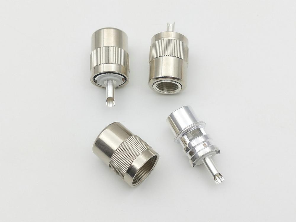 50 قطعة UHF الذكور PL259 التوصيل اللحيم ل RG8 RG213 LMR400 7D-FB كابل موصل