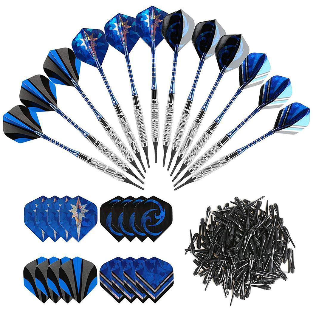 12 шт. синие из алюминиевого сплава безопасные мягкие дротики для Дартса x Дартс