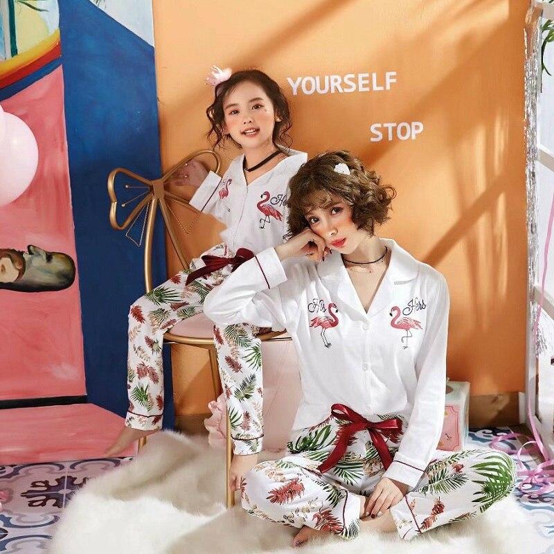 Pijamas Para Hija de mamá Babe, ropa para la familia, trajes a Juego 100% Pijamas de Flamenco de algodón, Pijamas de mamá para niñas