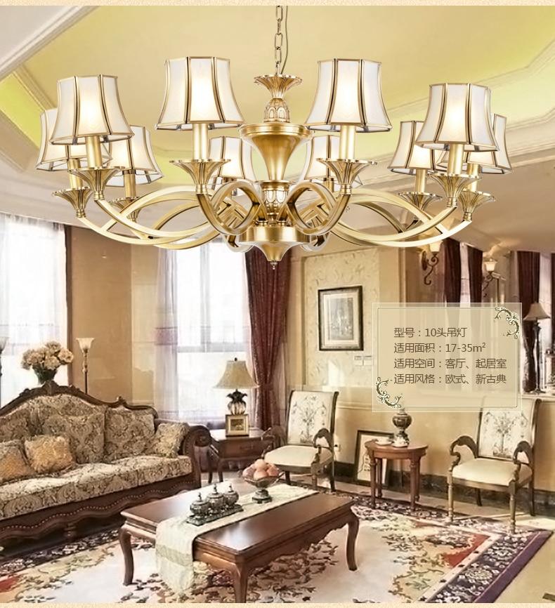 Vitrust lámparas de cobre iluminación casa de lujo accesorio Abajour brillo colgante...