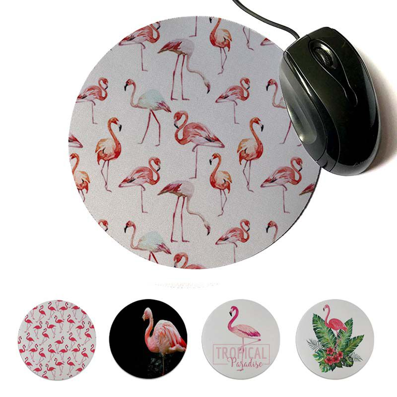 MaiYaCa New Impresso Pink flamingos Exclusivo Desktop Game Pad Mousepad 200x200mm 220x220mm Rodada Do Mouse Pad