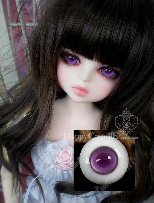 New 1 Pair BJD doll eyes 14mm 16mm 18mm Grape purple acrylic half ball SD/MSD eyes Dollfie