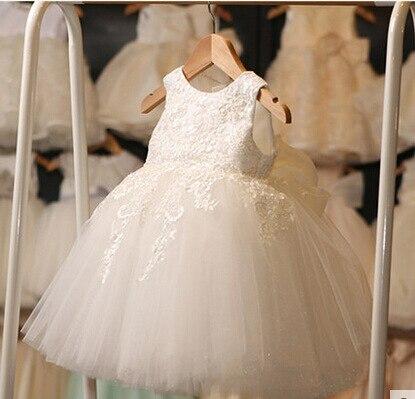 Высококачественное белое платье для причастия; платья для девочек для первого причастия; торжественные платья из тюля и кружева с цветочным узором для маленьких девочек на свадьбу и день рождения