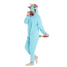 Golden Horn Blue Unicorn Kigurumi Adult Onesies Animal Shark Pajamas Lemur Sleepwear Pikachu Pyjamas Carnival Cosplay Costumes