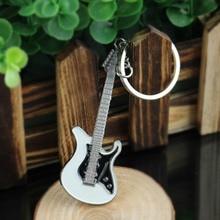 Neue Gitarre Keychain Kreative Design Bass Gitarre Musical Instrument Keychain Geschenk Mode Anhänger