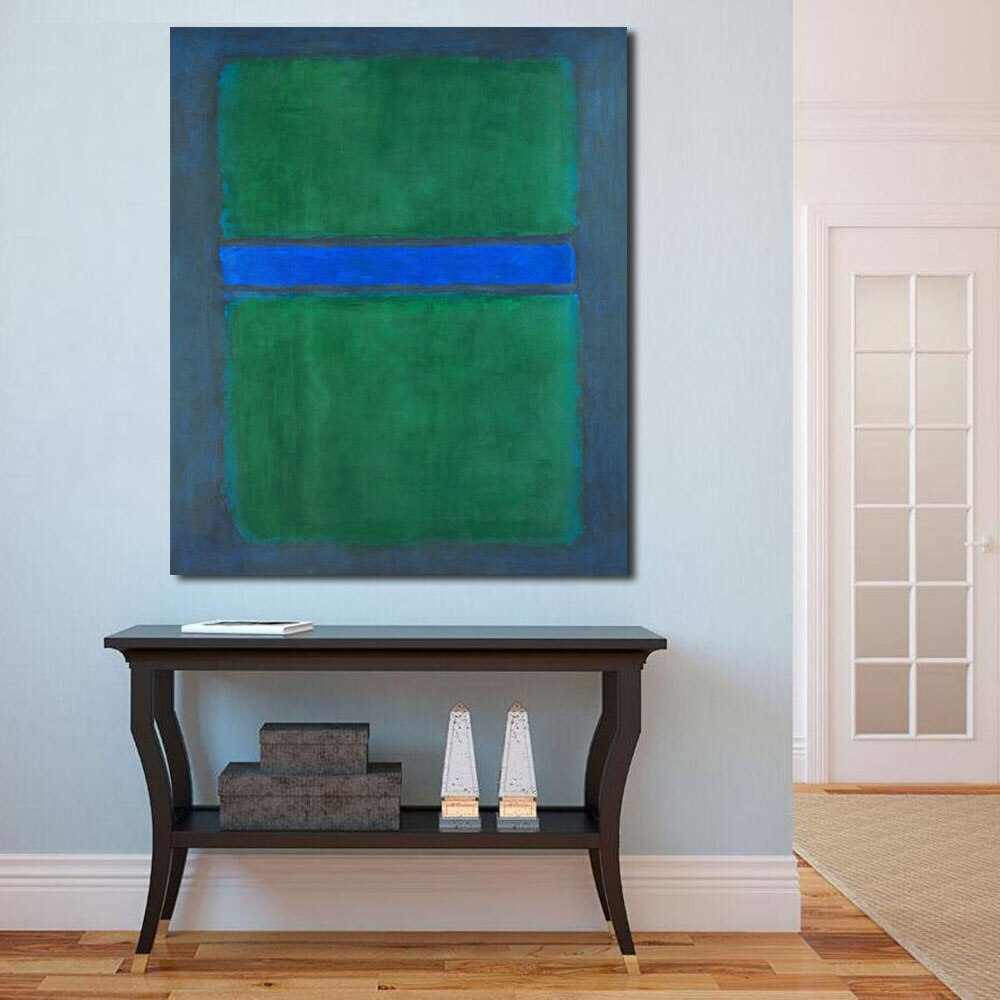 Jqhyart mark rothko pintura a óleo, abstrata, pintura na parede, sala, pinturas em tela, moderna, sem moldura