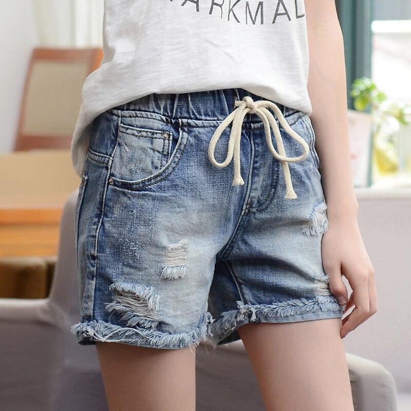 Pantalones cortos de mezclilla para mujer primavera 2020 nueva versión coreana del verano era delgada grande grasa MM suelta cintura