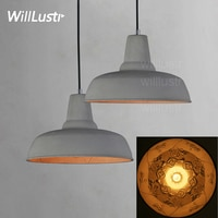 Willlustr cement suspension skygarden lamp concrete pendant light hotel restaurant hanging lighting dinning room bedside