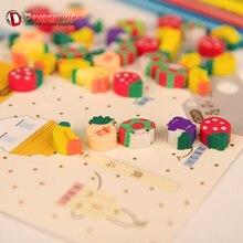 50pcs Kawaii Mini fruits en caoutchouc mignon crayon gomme petit Mini bonbons Silgi dessin animé Correction ensemble gommes pour enfants papeterie Lot