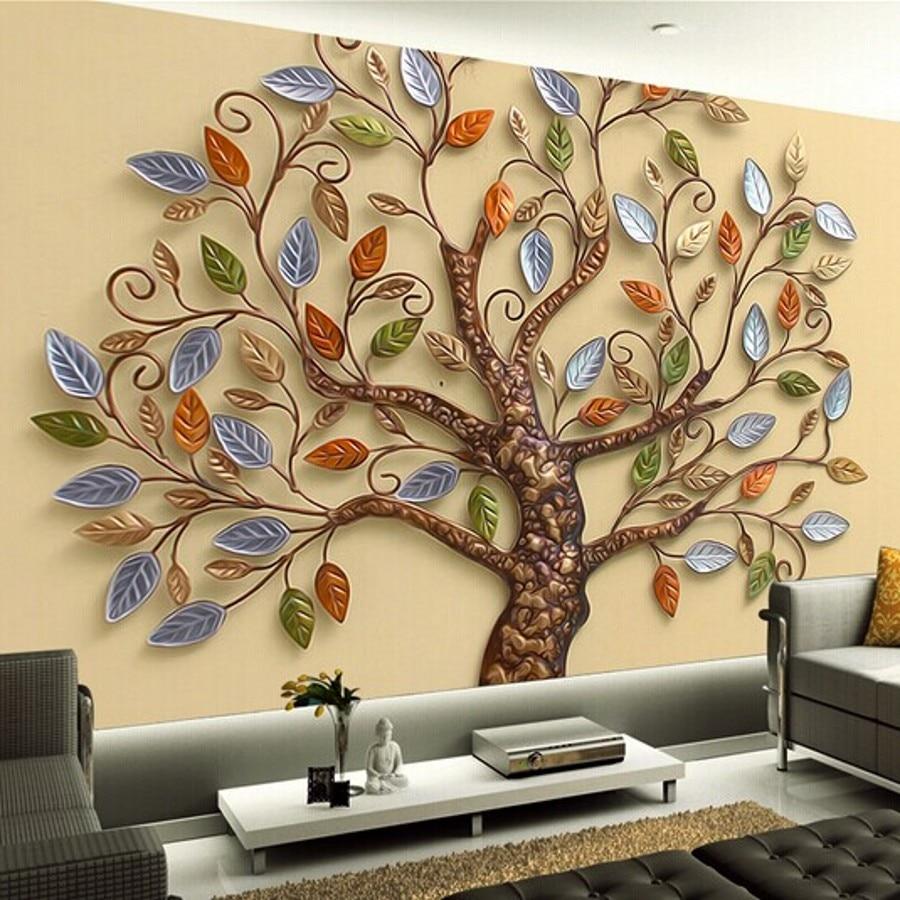 beibehang Custom photo wallpaper papel de parede 3D embossed modern living room TV background 3d
