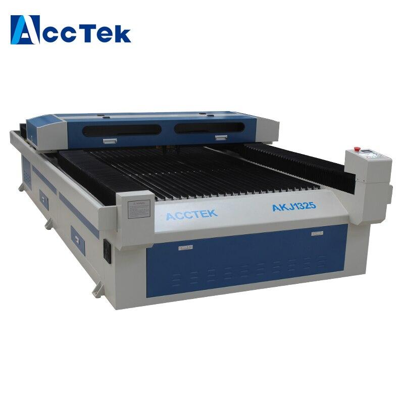 Chine Acctek bois acrylique tissu pierre cuir CO2 laser machine de gravure AKJ1325-2 double tête laser machine CNC
