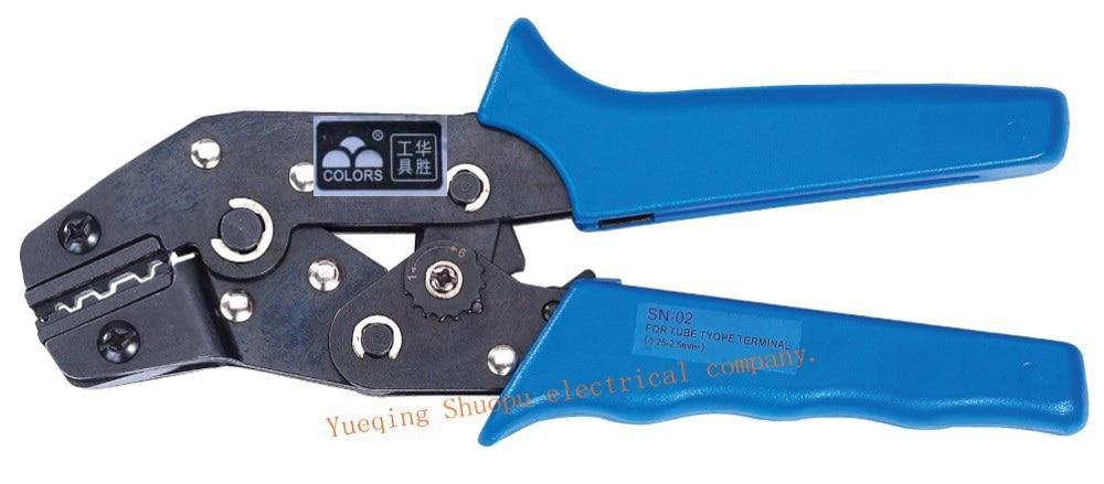 MINI pince à sertir de STYLE européen, SN-02 à 0.25 mm2, outils multiples
