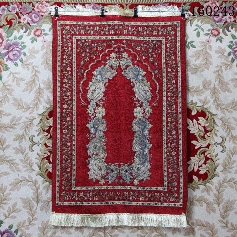 2018 nuevo de 70*110cm islámica alfombrilla para oración musulmana Salat Musallah oración alfombra tapiz tapete de alfombra Banheiro moslim tapetes para casa sala