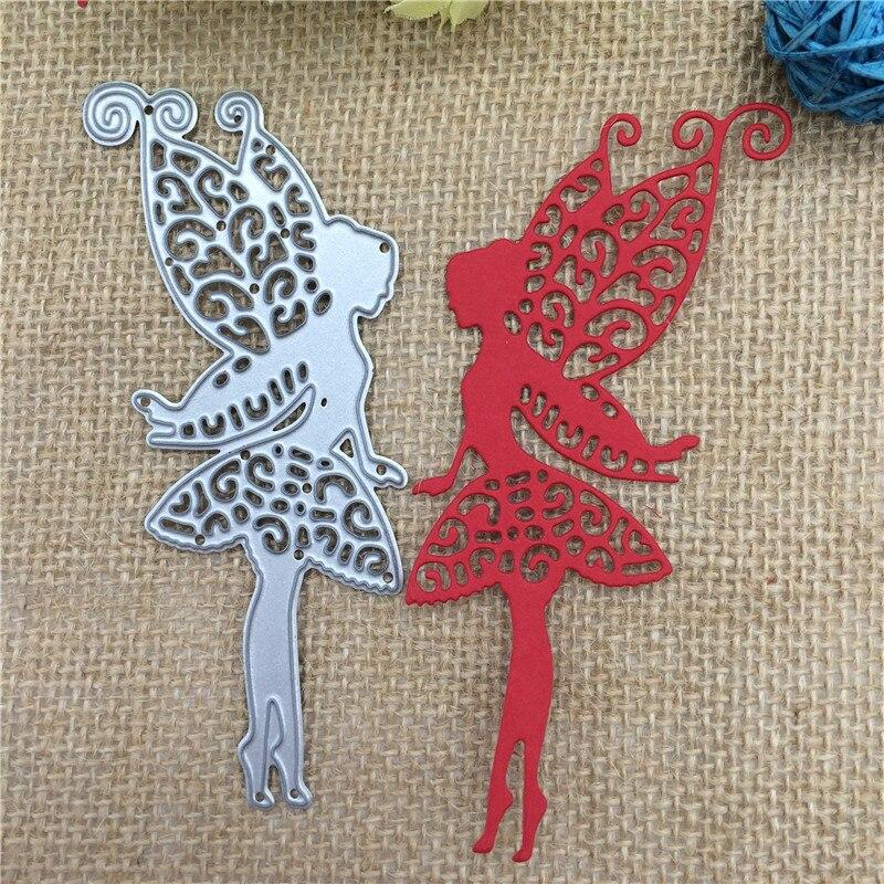 Металлические режущие матрицы, Бабочка, феи, угол крыльев, альбом для скрапбукинга, бумага для домашнего декора, тиснение, рукоделие
