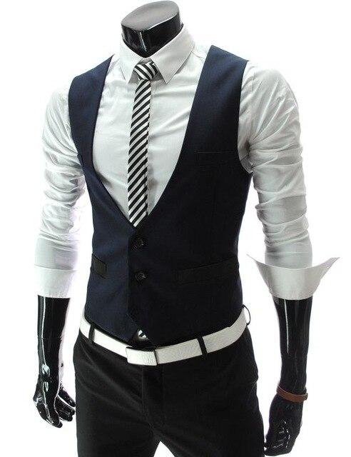 تصميم جديد الأزرق الداكن رجل البدلة مخصص الزفاف prom حزب كاسامنتو. access colete الصدريات جيليه الرجل سترة حجم L-6XL