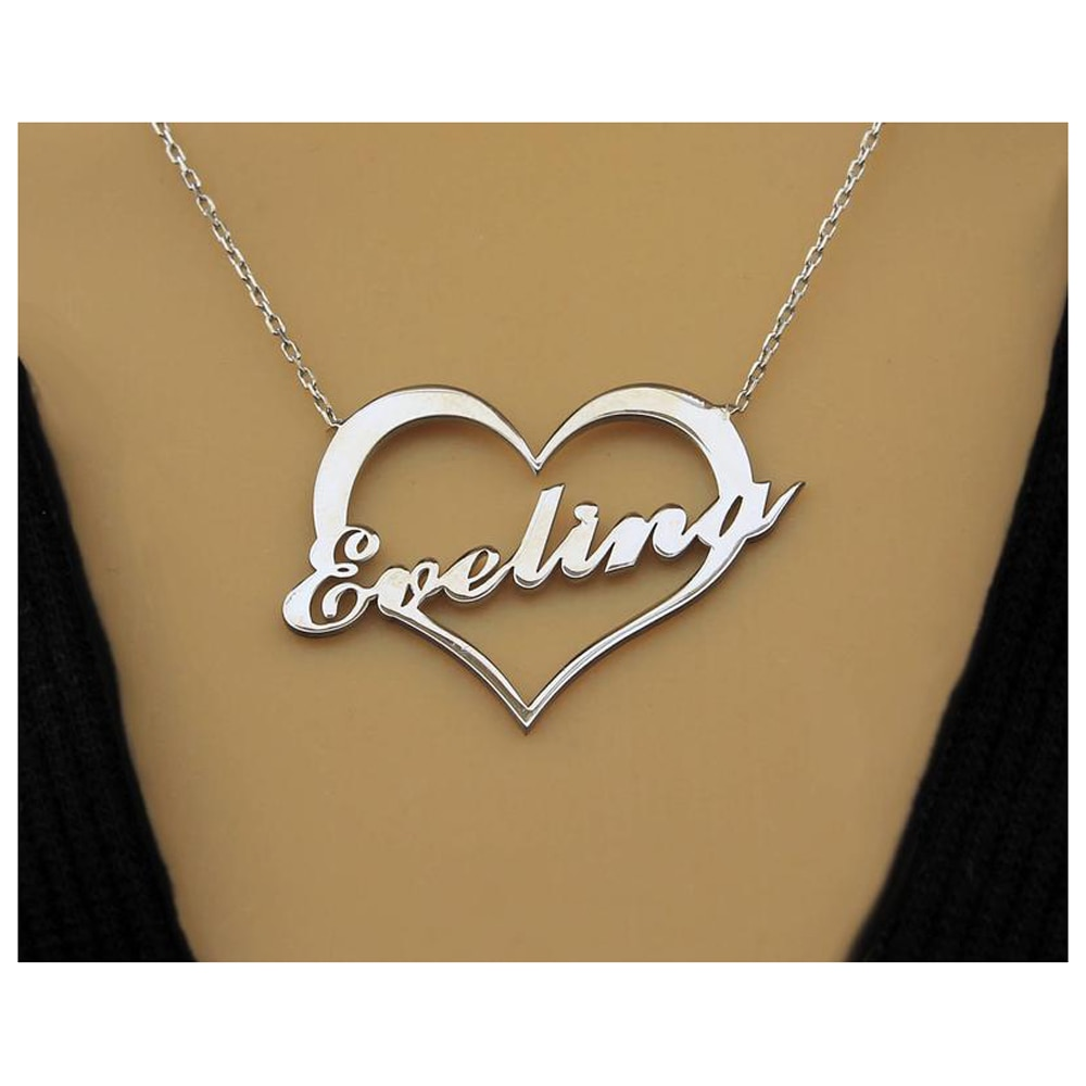 Heart infinity necklace infinity name necklace two names infinity necklace infinity heart children name necklace for mother