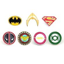 Justice League Marvel Broches Deadpool Batman Broches Broches Flash Captain America Superman Broches pour hommes Badge chapeau cravate Broches