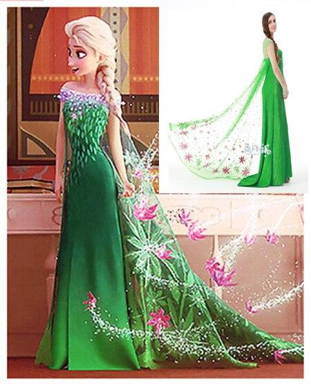 Elsa Anna vestido adulto mujeres niñas Blancanieves Cenicienta Cosplay Halloween 2015