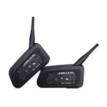 Lexin-casque Interphone Bluetooth sans fil   R6, 1200M BT, 2 pièces, casque pour moto, Interphone Bluetooth, GPS, MP3