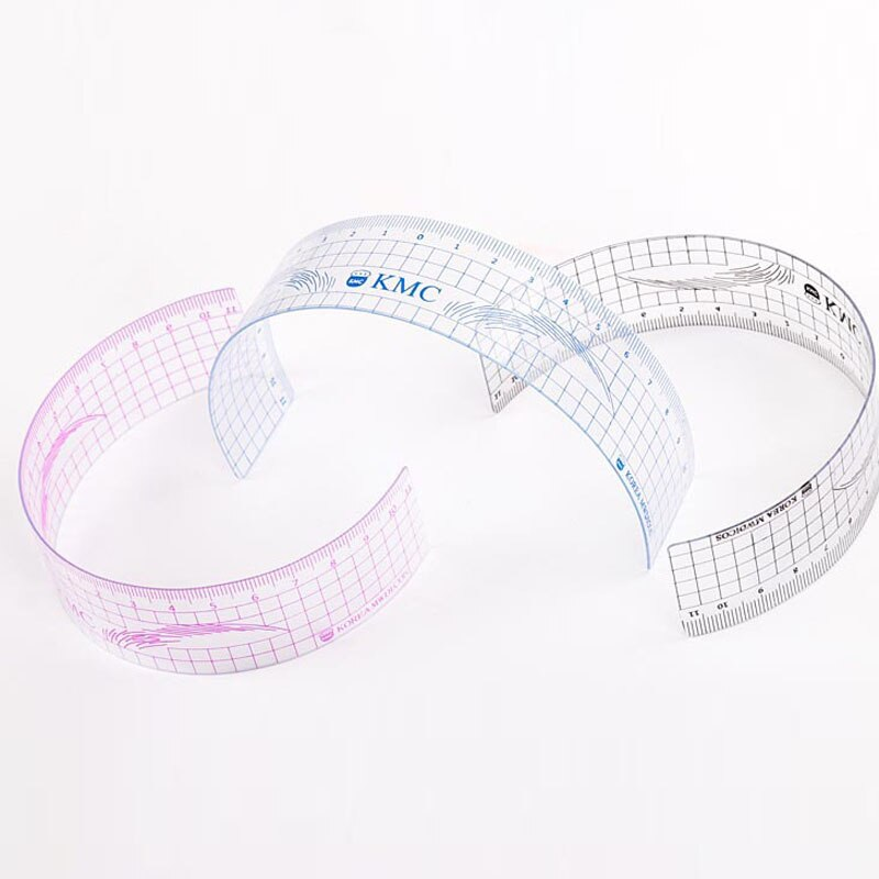 U curva Microblading ceja regla más suave transparente regla cejas regla 50 piezas
