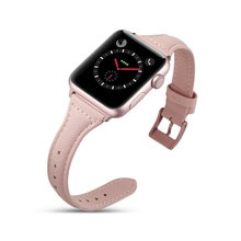 Echtes Leder Armband Armband Für Apple uhr 38 40 42 44 mm , VIOTOO Frauen Luxus Leder Uhr Band