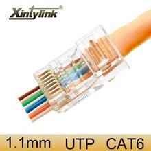 Xintylink Ez Rj45 Connector Ethernet Kabel Plug Cat6 Netwerk 8P8C Vergulde Afgeschermde Jack Utp Rj 45 Terminals 100 Pcs 50 Pcs